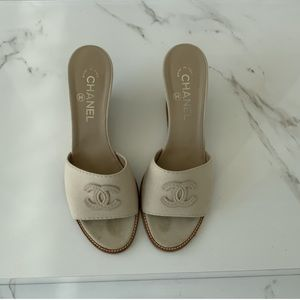 Chanel Slip on Wedges